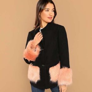 Coat w/ Pink Faux Fur